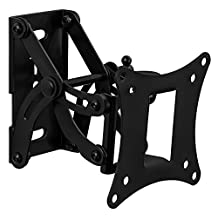 Mount-It! MI-4602 TV Wall Mount, Single, Adjustable, Swiveling, Tilting, and Extending Arm Wall Mount for LCD, OLED, and Plasma Samsung, Sony, Panasonic, and Toshiba TVs Between 10 and 30 Inches, 66 Lb Load Capacity, Black