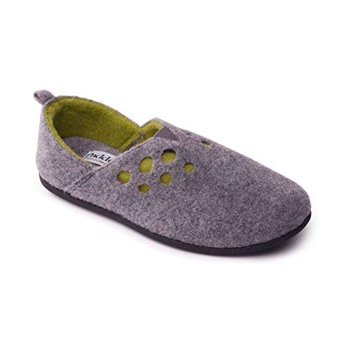 Mujeres Adicional eee De Zapato Talón Padders Doble Ajuste Libre Gris 'riva' Sistema Anchura Zapatos 15mm Gran Fieltro Ee Cuerno Con dAxwBq