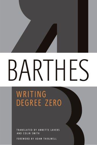 Image of Writing Degree Zero