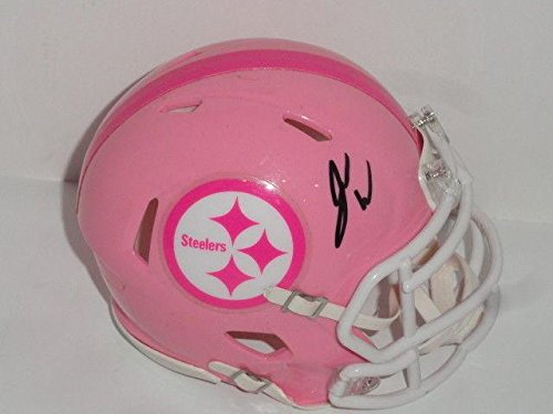 James Washington (Pittsburgh Steelers) Autographed Mini Helmet - Pink Proof - Autographed NFL Mini Helmets Autographed Pink Mini Helmet