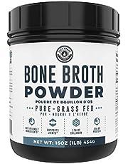 Bone Broth Powder - Grass Fed Bone Broth Powder with Protein [22g per Serving] and Collagen [17g per Serving]. Keto, Paleo, Dairy Free, Non-GMO