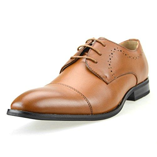 Mm / One Mens Derby Schoenen Oxford Schoenen Kleding Schoenen Gore Medaillon Glb Teen Memory Foam Binnenzool Bruin Mpt109-2 Bruin