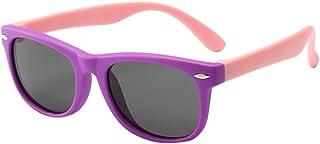 WHSHINE Kinder Sonnenbrille Freizeit Reisen Reiten Übung Strahlenschutz Polarisiertes Licht Silikon Gläser Mädchen Mode Trend Polarisierte Sonnenbrille