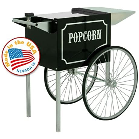Paragon 3070820 1911 Original Series Black And Chrome Popcorn Cart For 6 Oz And 8 Oz Poppers