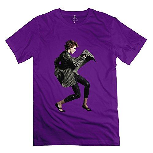Men's Emma Watson Short Sleeve T Shirt Size M Purple (Christmas Promotion Samsung)