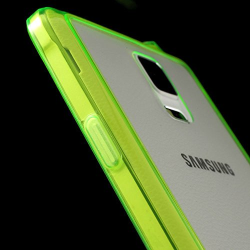 JUJEO TPU Edge + Crystal Acrylic Back Hybrid Case Cover for Samsung Galaxy Note 4 N910 - Green - Non-Retail Packaging - Green