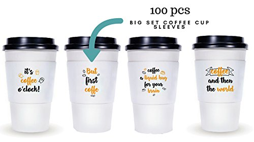 Protective Corrugated Coffee Cup Sleeves For 10 oz