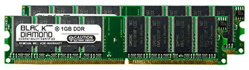 2GB 2X1GB RAM Memory for ECS P Series P4S5MG/651+ DDR DIMM 184pin PC2100 266MHz Black Diamond Memory Module Upgrade