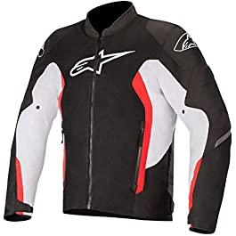 Alpinestars VIPER V2 AIR JACKET:BLACK WHITE BRIGHT RED:M