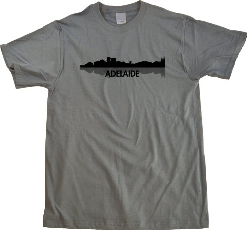 Adelaide, Australia City Skyline Unisex T-shirt Aussie Civic Pride Grey Tee