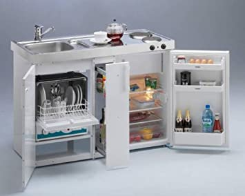 Miniküche Kompaktküche Magnat 120 Luxus: Amazon.de: Küche & Haushalt | {Miniküche mit geschirrspüler 9}