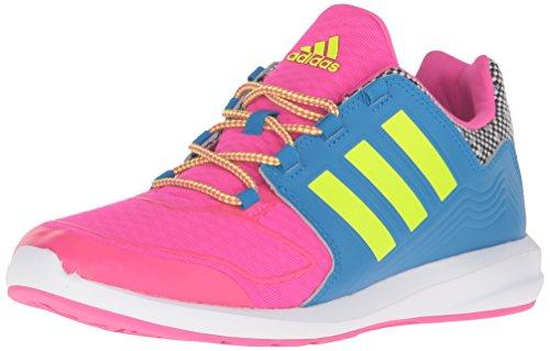 adidas Performance Girls' s-Flex k Running Shoe, Shock Pink/Electricity/Shock Blue, 12 M US Little Kid