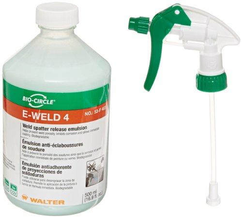 Walter 53F403 E-Weld 4 Weld Spatter Release Emulsion, 500mL (Protect Emulsion)