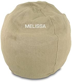 product image for Bean Bag Chair Kid Size Personalized Embroidered Comfy Bean - Hemp