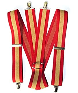 RK Tirantes Bandera de España Rojo y Gualda, Elasticos: Amazon.es: Ropa y accesorios