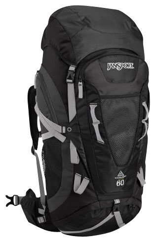 JanSport Trail Series Katahdin External Frame Backpack (Grey Tar/Forge Grey, 60-Litre), Outdoor Stuffs