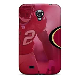 Samsung Galaxy S4 OXL13279tJIX Custom Realistic San Francisco 49ers Pictures Shockproof Hard Phone Cases -InesWeldon