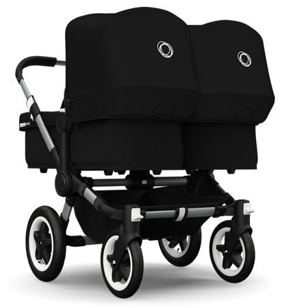 Bugaboo 2015 Donkey Twin Stroller Complete Set in Aluminum and Black by Bugaboo Strollers by Bugaboo Strollers