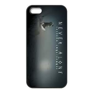 iPhone 4 4s Cell Phone Case Black Never Alone Kisima Ingitchuna 009 Zrqod