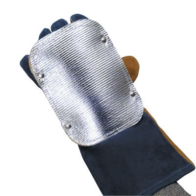Back Hand Pad, Double Layer, 7'', Elastic/High-temp Kevlar Strap Closure, Silver (150 Pack)