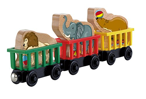 - Fisher-Price Thomas & Friends Wooden Railway, Circus Train 3-Pack