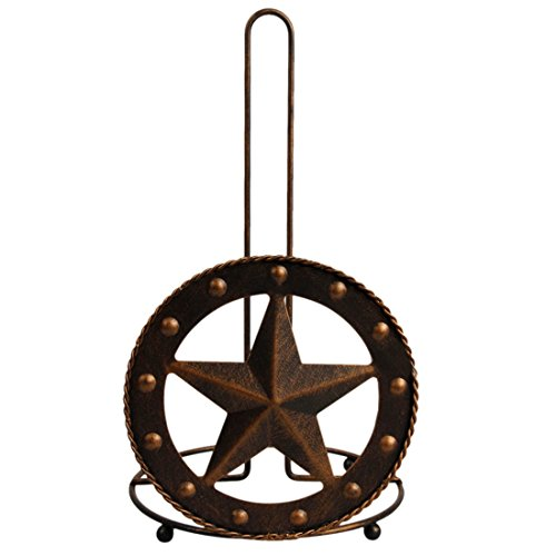Metal Toilet Paper Holder Texas Style Rustic Retro Star Patterns -