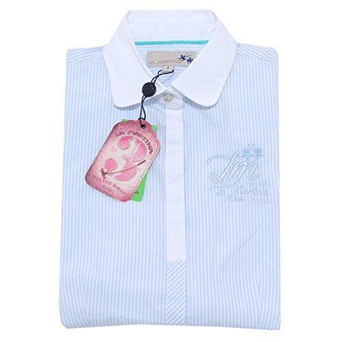Lunga Shirts La Bianco Manica 1735m Camicia Martina azzurro Donna Camicie Women X0qfE7wHnx
