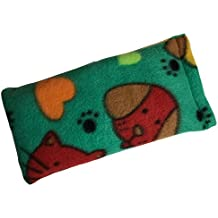 Microwavable Small Pet Heating Bag For Comfort, Soreness, Injury, and Anxiety (Dog/Cat Green)