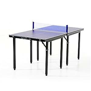 HOMCOM Mesa Ping Pong Plegable 153x76.5x67cm + Red Tenis Mesa Exterior Portatil Nuevo