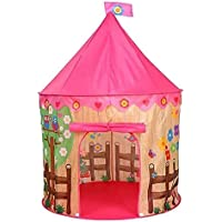 Nextin Princess Castle Play Tent for Girls - Pink Playhouse Kids Castle Play Tent with Carry Bag for Children Indoor and…
