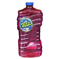 Imperial Super Miracle Bubbles Solution con varita, colores surtidos de botellas, 100 oz.