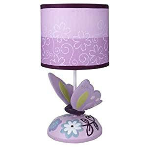 Butterfly Lane Flowers And Bugs Baby Nursery Girls Lamp Base & Shade
