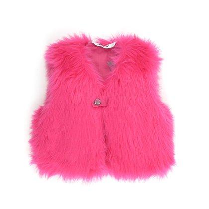 3Pommes Fur Vest, Pink