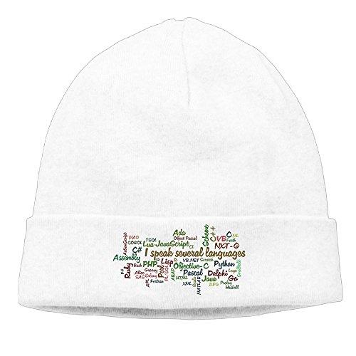 Richard Lyons Men's Programmers Have Multiple Programming Skills Classic Travel White Beanies Caps Hats