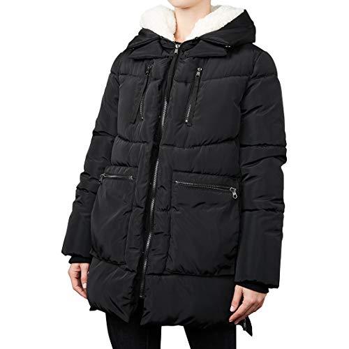 Steve Madden Women's Puffer Parka Jacket, Classic Black, M (Amazon Coats Women)