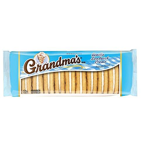 Grandma's Vanilla Sandwich Creme Cookies, 3.245 oz Sleeve
