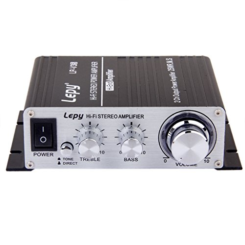 Audio Estereo De Alta Fidelidad De Mini Amplificador Dc 12v Para El Hogar / Coche Motocicleta Negro