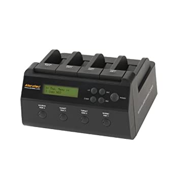 Image of Aleratec 350117 1:3 HDD Copy Dock 4-Bay Duplicator/Dock with USB3.0 and eSATA Connectivity Disc Duplicators