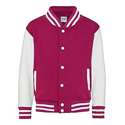Kid's Varsity Jacket COLOUR Hot Pink/White