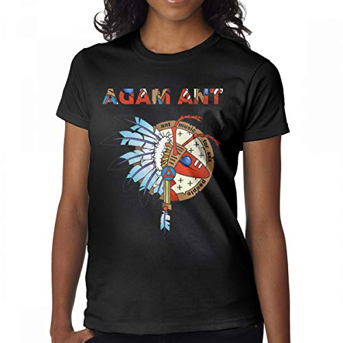 GMSQJ-Top Women's Fashion Adam and The Ants Logo T-Shirts XL Black Ant Long Sleeve T-shirt