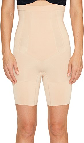 (SPANX Women's Oncore High-Waisted Mid-Thigh Short Soft Nude)