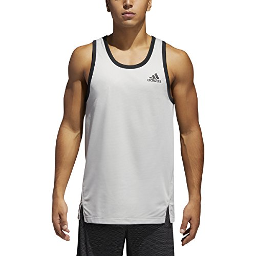 adidas Men's Sport Tank Top Grey Two XX-Large