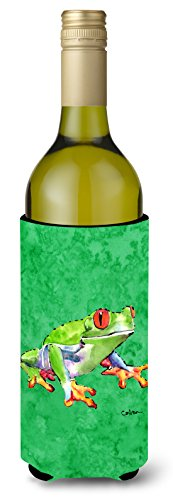 Green Tree Frog Wine Bottle Beverage Insulator Beverage Insulator Hugger ()