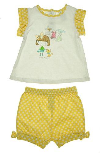 Absorba 2 Piece (absorba Girls 2 Piece Dotted Short Set Yellow 3T)