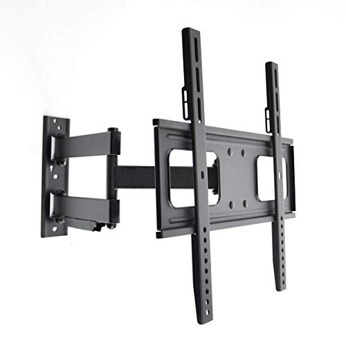 Articulating Curved and Flat Panel Single Stud TV Wall Mount for 32-55 Inch Screens Vesa Compatibility 200x200 400x200 300x300 400x400 (Flat Panel Single Small)