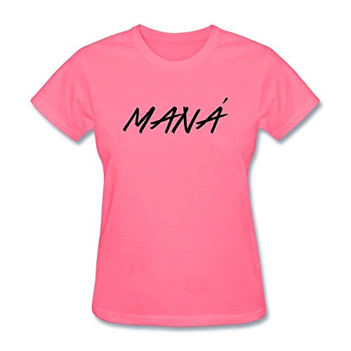 Tommery Women's Mana Band Logo Design Short Sleeve Cotton T Shirt