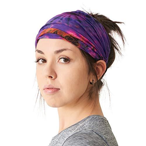 CHARM Casualbox | Tie-Dye Headband Bandana Boho Hippie Retro Flower Psychedelic 60's B -
