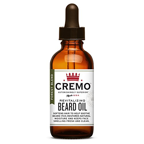 Cremo Beard Oil, Forest Blend – Restores Moisture, Softens And Reduces Beard Itch for All Lengths Of Facial Hair, 1 Ounce