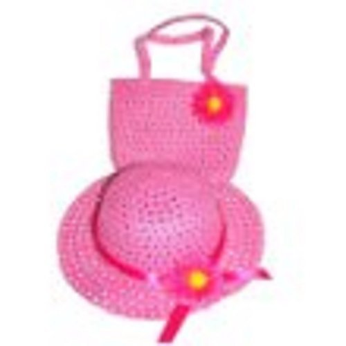 Girls Tea Party Hat and Purse Dress Up Set - Fuchsia