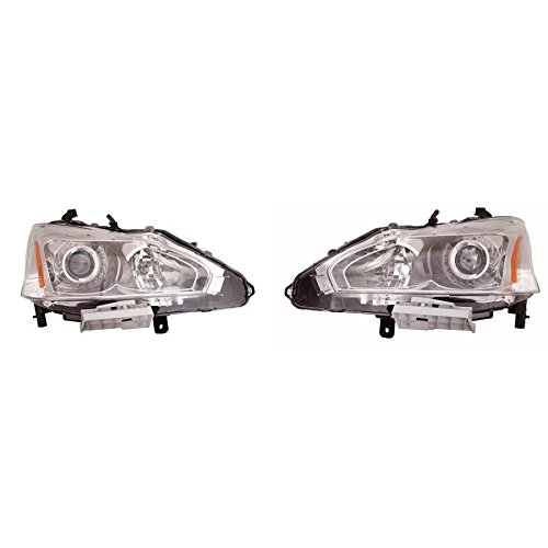 Fits Nissan Altima Sedan 2013 2014 2015 Headlight Assembly Halogen Type Pair - Driver and Passenger Side (NSF Certified) NI2502208, NI2503208